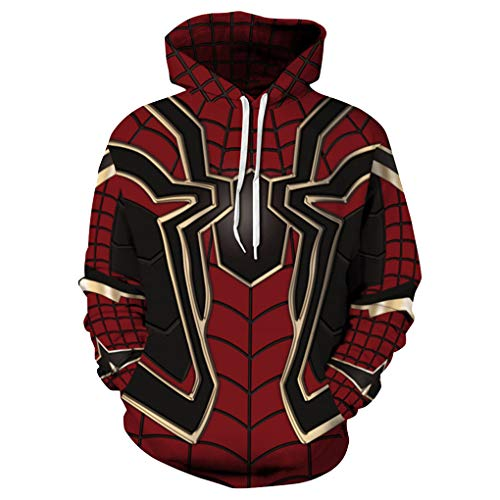 421ef586608a Memoryee Cool Superhero 3D Digital Printed Hoodies Unisex with Drawstring  Kangaroo Pouch Pullover Plus Size Design