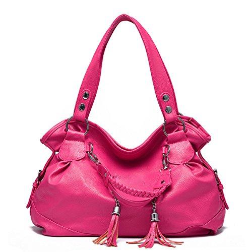 2017 Grande Capacità Morbida In Pelle Di Moda Spalla Women 's Retro Nappa Messenger Bag Borsa Delle Signore Red
