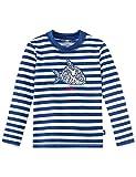 Schiesser Jungen Bademantel Aqua Capt´N Sharky Bade-Shirt, Blau (Admiral 801), 104 (Herstellergröße:104)