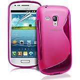 JAMMYLIZARD | S-Line Silikon Case Hülle für Samsung Galaxy S3 Mini, KNALLROSA