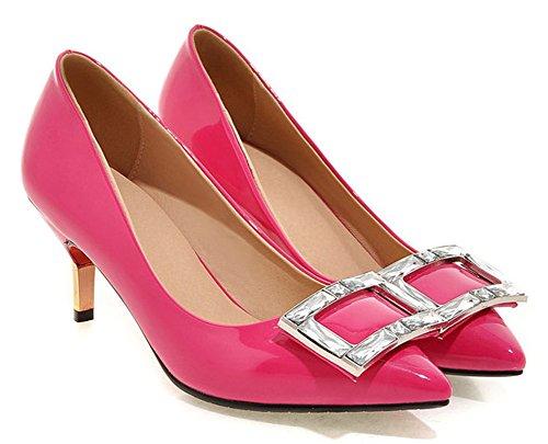Aisun Damen Spitze Zehe Pailletten Modisch Sexy Braut Kitten Heels Pumps Pink 39 EU fofbRuA65