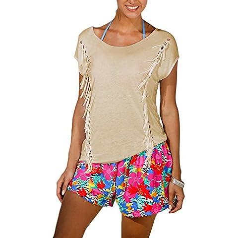 Minetom Donna T Shirt Maniche Corte Casual Magliette Estive Blouse