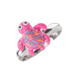 Ni os ajustable anillo brillante Multi Cute de pol mero de color anillos para ni as hecho a mano joyer a Set de regalos de N