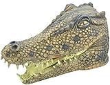 Fancy Me Erwachsene Damen Herren Rubber Das Gesicht Bedeckend Maske Animal Halloween Kostüm Kleid Outfit Zubehör - Krokodil
