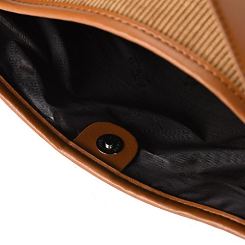 Koly_Nuove donne Bucket Bag in pelle a tracolla Marrone