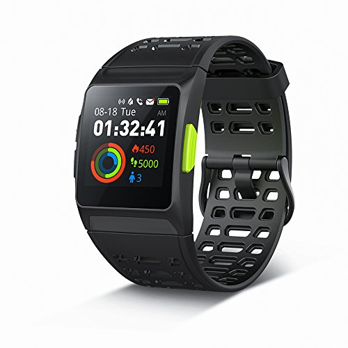 GPS Running WatchP1 Smart Watch HRV Analysis Heart RateSleepingFatigue Monitor IP67 Waterproof Fitness Tracker With Multi Sports Mode Message Notifications Color Touch Screen For Android And IOS