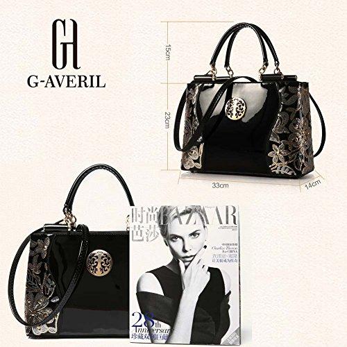 d95b26b2f9 ... (G-AVERIL) Borsa 4Colour Bauletto da Donna Elegante con Manici e  Tracolla in ...