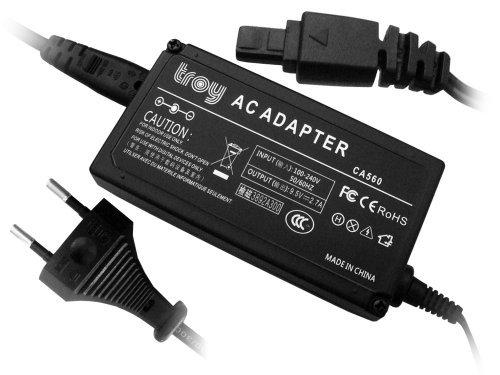 Troy-Netzteil für Canon Optura Serie: 100MC, 200MC, ZR10, ZR20, ZR25MC, ZR30MC, ZR40MC, ZR50MC, CA-560 -