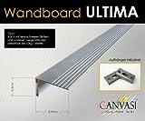 Wandboard - ULTIMA - Aluminium Farbe silber - gebürstet, Größe 150cm