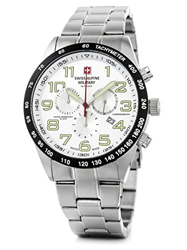 Swiss Alpine Military by Grovana Hombre Reloj Chrono 10 ATM Silver 7047.9132sam