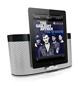 Gear4 AirZone Series 1 Wireless Docking Station Speaker with EU/UK Plug Compatible with iPhone 3G/3GS/4/4S, iPad 2/3, iPod Nano 5th Generation and iPod Touch 4th Generation - Silver