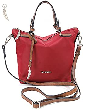 Henkeltasche von Waipuna aus hochwertigem Nylon, Handtasche mit Schlüsselanhänger, Handgelenktasche mit schönen...