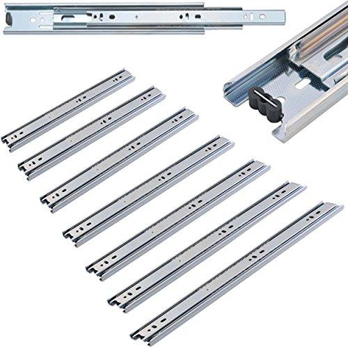 Schubaldenführung Teleskopschiene Vollauszüge Gleitschiene Schubladenschiene 45 cm - 90 cm