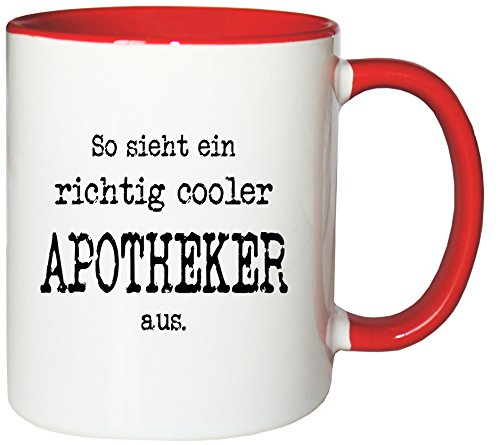 Mister Merchandise Kaffeetasse Becher So sieht ein richtig cooler Apotheker aus. , verschiedene Farben (Becher Apotheker)