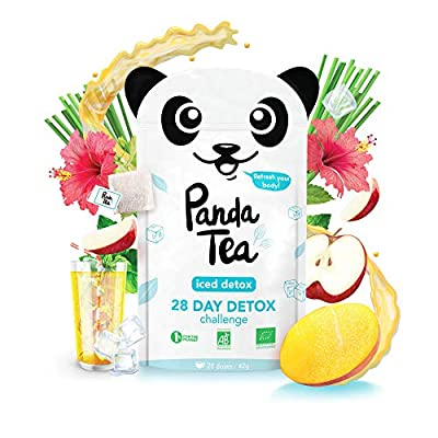 Panda Tea - Iced detox - Thé & infusions detox glacé certifié bio - 28 sachets