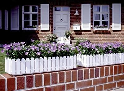Emsa Landhaus Blumenkasten 50cm weiss von Emsa auf Du und dein Garten