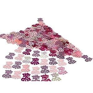 versandhop Konfetti-Baby Rosa Pink IT`S A Girl Schriftzug Schrift Mädchen Baby-Dusche Geburt Taufe Pinkel-Party Tisch-Dekorieren Party Streu Geburtstag Baby-Party 15g