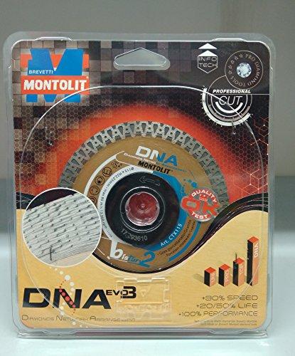 Montolit Diamanttrennscheibe zum Schneiden von Feinsteinzeug, Porzellan und Granit, CTX 115 DNA