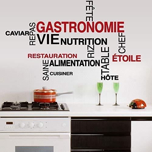 Mots Cuisine Wandtattoo Französisch Vinyl Wandtattoo Tapete Wandbild Küche Wandtattoo Home 57x33cm (Le Halloween Mot)