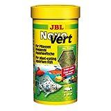 JBL Alleinfutter für pflanzenfressende Aquarienfische, Flocken 250 ml, NovoVert 30195