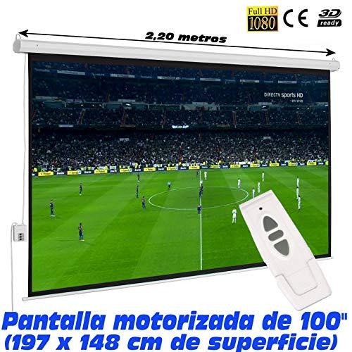 Pantalla proyeccion electrica Luxscreen 100