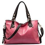 BlueVega Women handbag - Rose Sac à Main Fourre-tout Hobo Sac Messenger Rétro Femme Luxe Sacs Portés-Rose