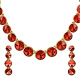 Ananth Jewels Made with Swarovski Elements Crystals Necklace and Earrings For Women ( Hyacinth )