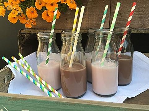 Bouteille 250ml Mini école Verre Retro Vintage Milk Tea Party Wedding Baby Shower