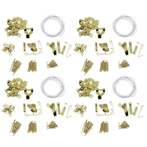 com-four image Set de crochets et de la main avec accessoires pour les bricoleurs à suspendre les images 308-tlg