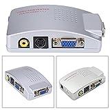 PC Laptop VGA to TV RCA Composite Video Converter S-Video Box
