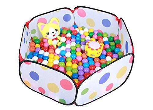 Parque infantil para bebés y niños / Piscina de bolas / Piscina de pelotas para niños Fácil de plegar y desplegar (verde (semi transparente))