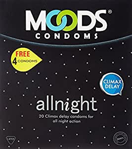 Moods All Night Long Condom - 12 Pcs (Pack Of 3)