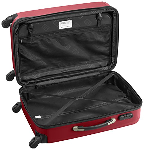 HAUPTSTADTKOFFER - Alex - 2er Koffer-Set Hartschale glänzend, 65 cm + 55 cm, 74 Liter + 42 Liter, Graphit-Blau Grün-Rot