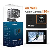 ThiEYE i30+ 4K Action Camera,12MP 5CM HD Screen,Wifi 60M Underwater Sports Cam, App Control with Full Accessories for Cycling Helmet
