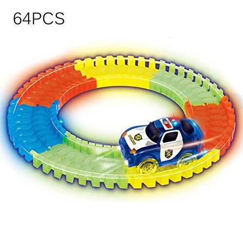 ble Variable Tracks Leuchten im Dunkeln die Bend Flex der neon track bendable versammlung track rennserie (Blau) (Lego Polizei-halloween-kostüm)