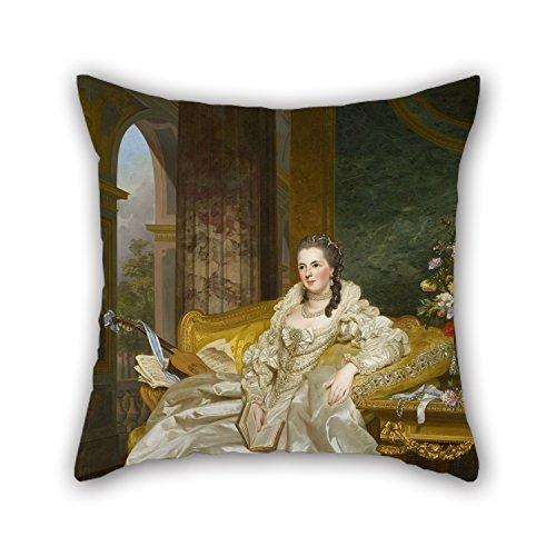 Ölgemälde Alexander Roslin-Die 'Comtesse D 'egmont Pignatelli im spanischen Kostüm kissenrollen 45,7x 45,7cm/45von 45cm beste Wahl für Mann, Diwan, Bar, Home Theater, Schlafzimmer,