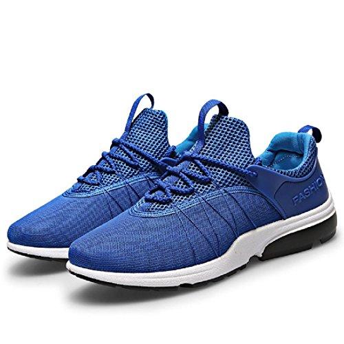 Herren Sportschuhe Atmungsaktiv Lässige Schuhe Ausbildung Laufschuhe Ausbilder Blue