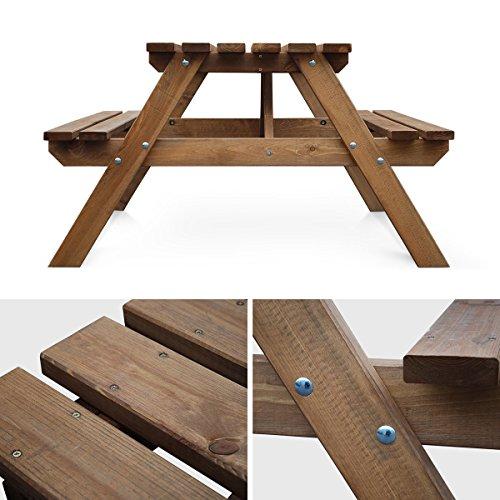 Alices Garden Table De Pique Nique En Bois 150cm Padano Table
