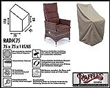 Raffles Covers RADJC75 Schutzhülle für Relaxstuhl 75 x 75 cm Schutzhülle für Stapelstühle und Relaxsessel, Abdeckhaube für Gartenstühle