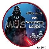 1 Tortenaufleger Star Wars rund 20cm Durchmesser mit Ihren Fotos