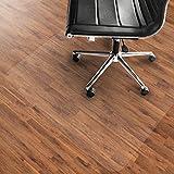 Tapis de chaise en PVC ETM® pour planchers durs, tailles multiples, très transparent, transparent