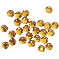Rhinestones Del Flatback 20 Brutos / 2880 Pcs Caliente Del Arreglo Del Hierro En 3,8 - 4 Mm - Color ambar