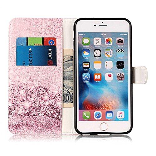 Vandot Etui IPhone 6 Plus Cuir Portefeuille Case IPhone 6S Plus Neuf Protection Coque Protecteur D'écran Bumper avec Pratique Fonction Stand Fermeture Magnétique Credit Carte Pochette + Luxe Mode boul Marbre-10