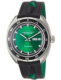 Hamilton American Classic Pan Europ verde Dial Automático Mens Reloj h35415761