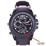 Manya Impex Hidden Audio/Video Recording No Light Flashes Sports Spy Wrist Watch Camera