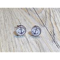 Anker maritim 925 Sterling Silber 8mm Ohrringe Ohrstecker