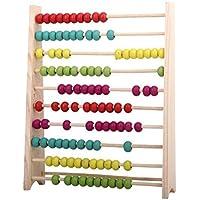 Preisvergleich für Youarebb 1Farbe Perlen-Punkte-Abacus Sorgen Rahmen Holz Computing Rahmen die Frühkindliche Bildung Puzzle