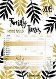 Premium Familienkalender Gold XL Familienplaner Familientimer Family Timer 2019 DIN A3 ***Einführungspreis*** Wandkalender Kalender Familie 5 Spalten