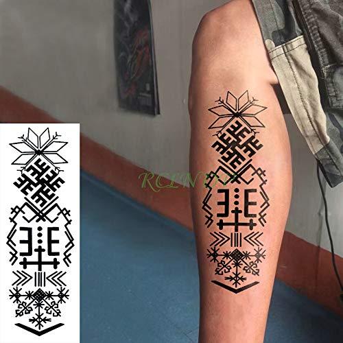 Tzxdbh autoadesivo del tatuaggio temporaneo impermeabile del corpo striscia totem freccia croce tatto adesivi tatoo per gli uomini