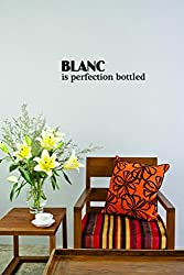 Design with Vinyl Moti 2631 3 Decal - Peel & Stick Wall Sticker : Blanc Is Perfection Bottled Color: Black Size 16 Inches x 40 Inches